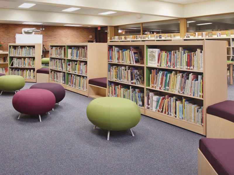 Abbotsford Library Interior seating Fabrics for education