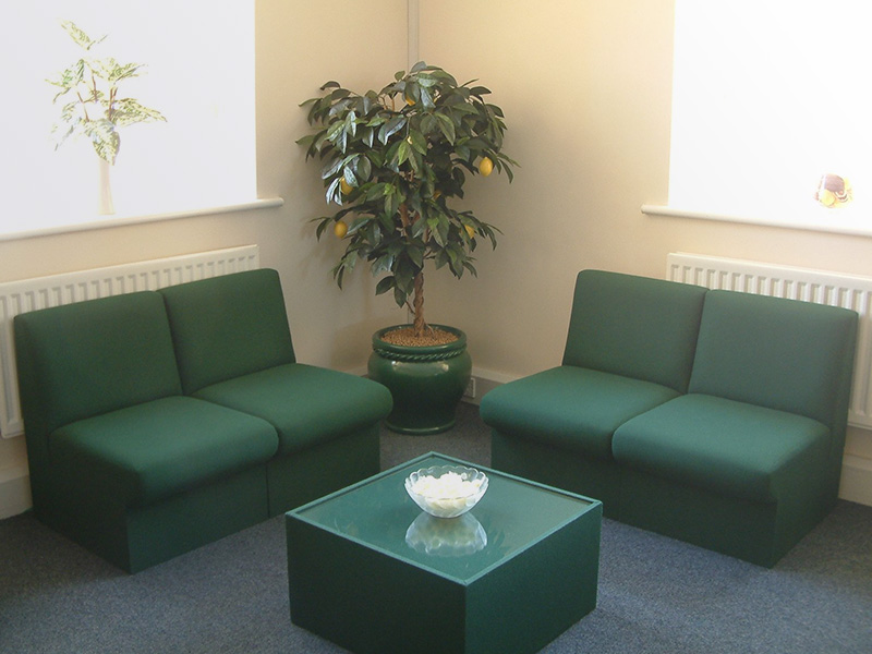 Corporate office upholstered in Abbotsford Woolen fabrics