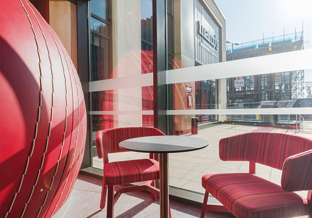 Ibis Hotel upholstered in Exhilirate London Abbotsford Fabric